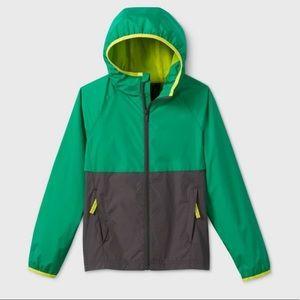 All in Motion Green Lightweight Windbreaker Jacket